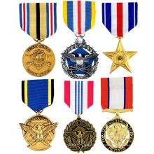 Promotion Free Sample Cheap Custom Neck Short Ribbons Service Medal Of Honor