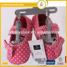 Großhandel 2015 neue Ankunftsart und weise reizende catton Babykleidschuhe mit Bowknot