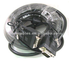 Câble de moniteur SVGA de 50 pieds avec audio 3,5 mm