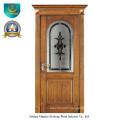 Classic European Solid Wood Door with Glass (ds-8022)
