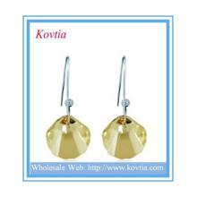 HOT SALE bijoux alibaba bijoux à quartz en cristal forme coquille boucle d'oreille pendentif en argent