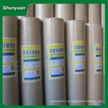 Malha de arame soldada galvanizada usada para gaiola (fabricante)
