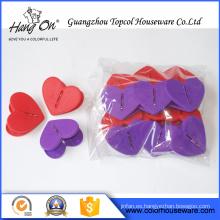 Clip de plástico en forma de corazón