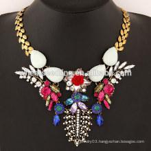 2015 Stone flower temperament alloy statement necklace