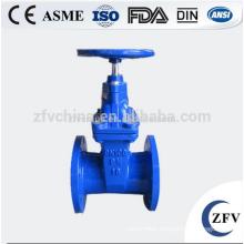 ZFV GVCI50-300 4 inch rubber seal flanged cast iron gate valve