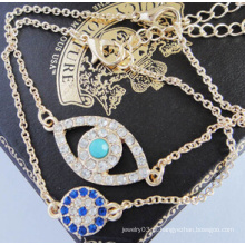 Bracelete de diamantes cheio de olhos maus (xbl13499)