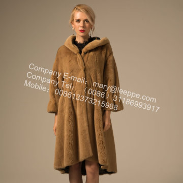 Mode Kopenhagen Mink Fur Reversible Overcoat