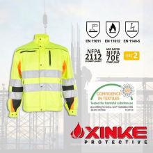 Chaqueta FR antiestática personalizada para uniforme de bombero