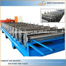 Panel de techo de acero galvanizado que hace la máquina