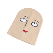 Mens Womens Unisex Holloween Mask Decoration Soft Stretch Winter Knitted Cap Beanie Hat (HW425)