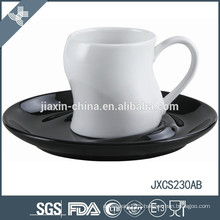 100CC porcelain coffee cup and saucer, colored cup and saucer