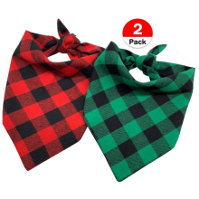 Dog Bandana Pet Scarf Classic Plaid