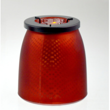 Red Candle Holder with Stars