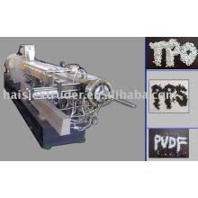HS SHJ-75 Co drehen Twin Schraube Kunststoff Extruder (Luftkühlsysteme Granulierung hot-Cut)