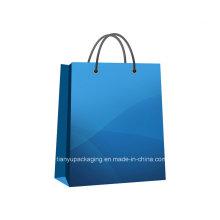 Bolso de compras de papel de Kraft de la manija para la ropa