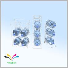 Alambre de metal de piso de metal de 5 galones titular de la botella de agua