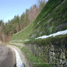Cesta sextavada galvanizada de Gabion da parede de retenção de pedra