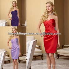 HB2003 Sweetheart pattern sleeveless knee-length ruched bridesmaid dress