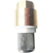 brass vertical check valve with net/ brass connector for water pipe