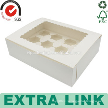 kundenspezifisches weißes Verpackungsentwurfs-Tassenpapierdreieck-Teilerschalen-Tortenschachtel mit Behälter