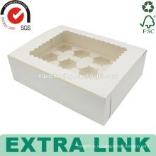 изготовленный на заказ белый дизайн упаковки бумажного стаканчика треугольник делитель чашки торт коробка с подносом