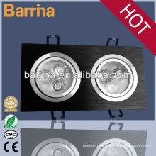 comercial embutida integrado 2 X 3 * 1w diodo emissor de luz de ponto grade