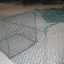 Electro-galvanized woven hexagonal gabion mesh for wall