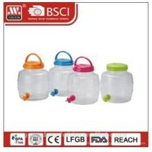 plastic beverage jug with faucet 4L