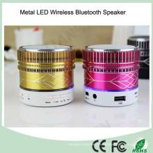 2016 Altavoz sin hilos vendedor caliente del metal Bluetooth LED (BS-118)