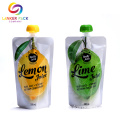 Kustom Reusable Plastic Stand Up Drinking Spout Bag