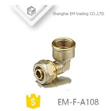 EM-F-A108 Codo de latón hembra tubo de compresión
