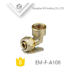EM-F-A108 Elbow raccord de tuyau de compression en laiton femelle