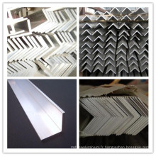 Barre d'angle d'extrusion en aluminium extrudée en forme de L