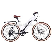 Retro design electric leisure city bike with rear hub motor ebike for sale