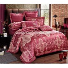 Juego de cama de lujo de la cubierta de la cama del jacquard con la cubierta del edredón Ropa de cama y las fundas de almohada