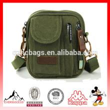 saco de ombro único Sacos pequenos do mensageiro da lona para homens, bolsa pequena da lona dos homens (ES-Z321)