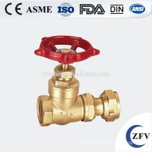 Mini brass gate valve