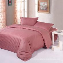 Solid Plain Color Cotton Strip Hilton Hotels Purchase Bedding