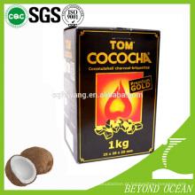 mais recente 100% coco cubo de carvão para shisha