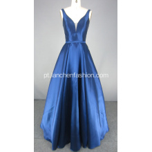 New Arrival Navy Ball Gown Long Prom Dress