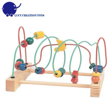 Colorful Educational Game Toys Wooden Large Around the beads Wire Maze