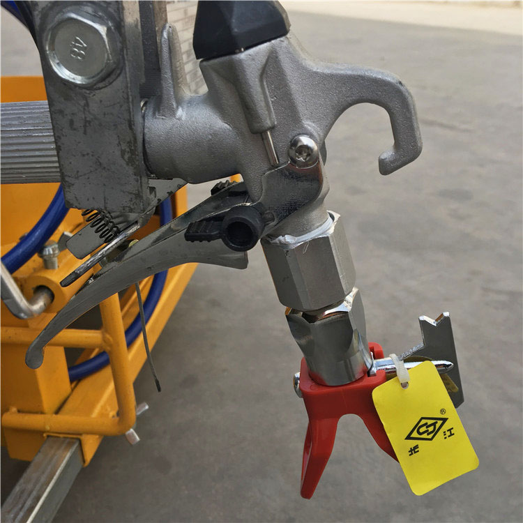 detail of road line marking machine