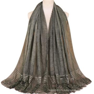 TINGYU Оптовая мода чистый Цвет женщины мусульманский шарф хиджаб