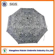 Três dobram dobradura automática sólido guarda-chuva exclusivo Zebra para senhora