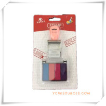 Sello de sello de texto con tinta de 5 colores para obsequios promocionales (OI36021)