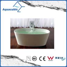 Bathroom Oval Solid Surface Freestanding Bathtub (AB6504)