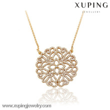 42820 Xuping Wholesale Elegant Gold Jewelry Necklace for woman