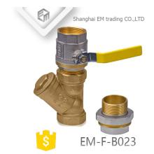 EM-F-B023 Brass 3-way filter pipe fitting