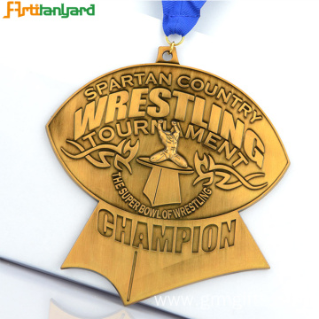 Custom Design Sports Medal with Different Plating
