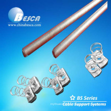 Electro Galvanized Threaded Bar / Zinc plated Threaded rod